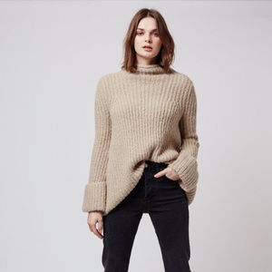 Topshop Funnel Neck Cuffed Oversized Sweater sz 6